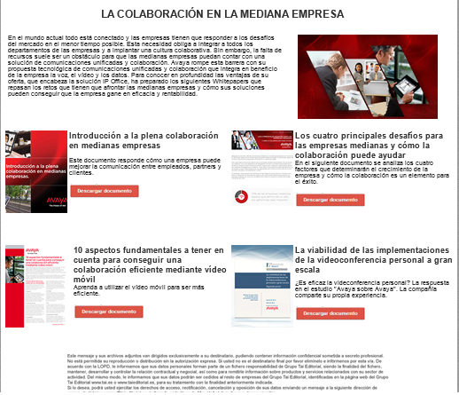 Avaya newsletter